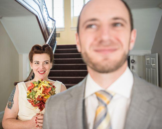 Annie & Josh's super local & alternative Washington DC wedding | Images: Knotty Photos