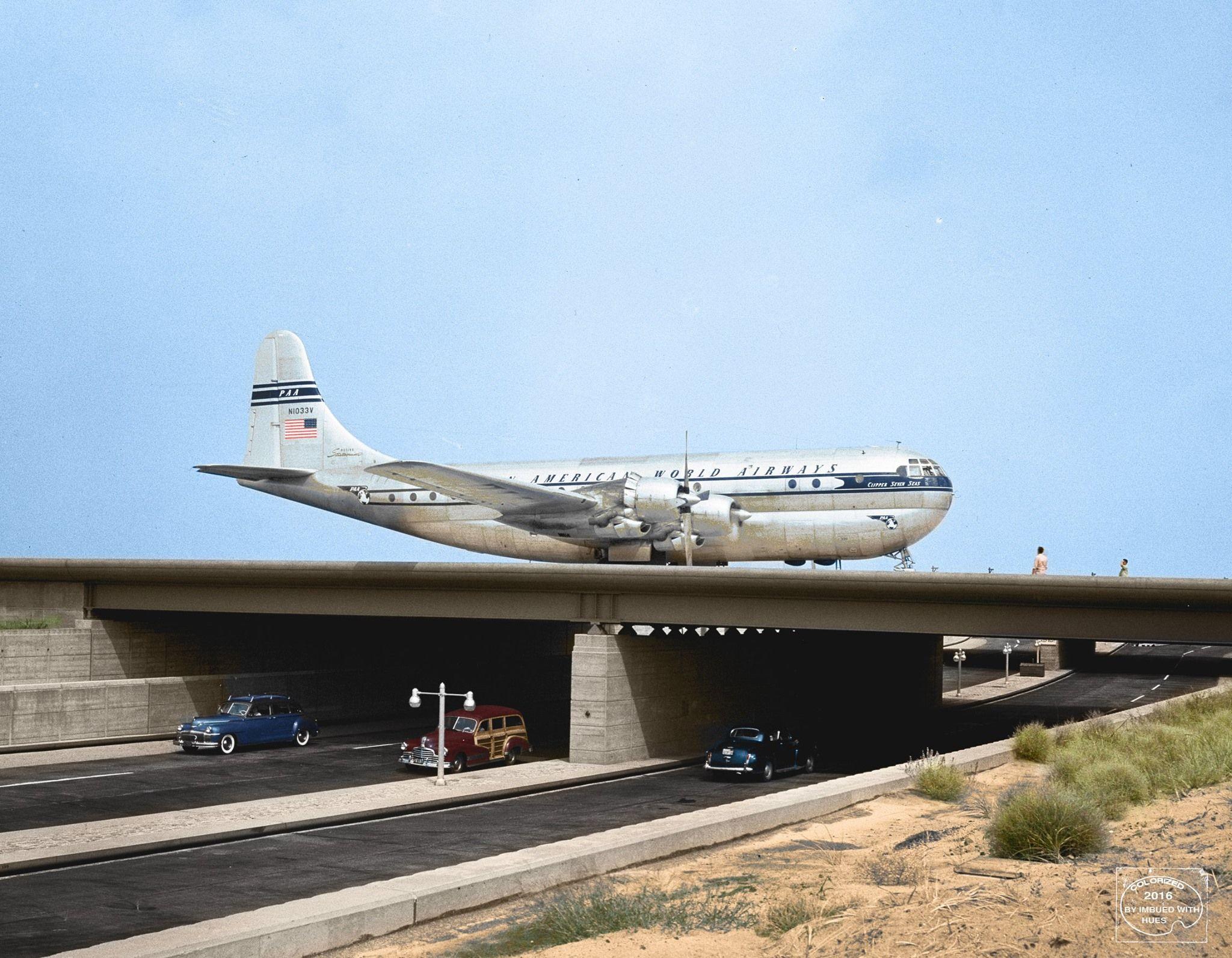 Boeing 377 Stratocruiser at JFK Airport, 1949 Boeing