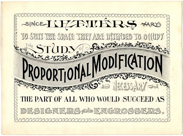 Applied Lettering of Proportional Modification by peacay, via Flickr