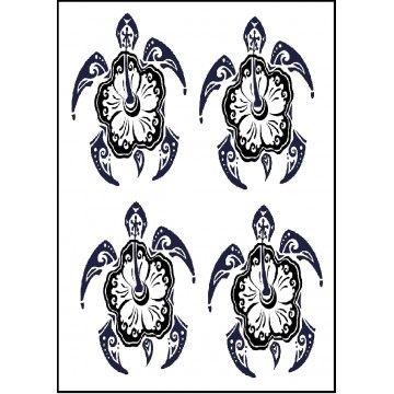 tatouage temporaire tortue maori et fleur maori pinterest tortue maorie tatouages. Black Bedroom Furniture Sets. Home Design Ideas