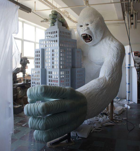 king kong #foam carving #zbrush #3d model #prop #sculpture #nyc