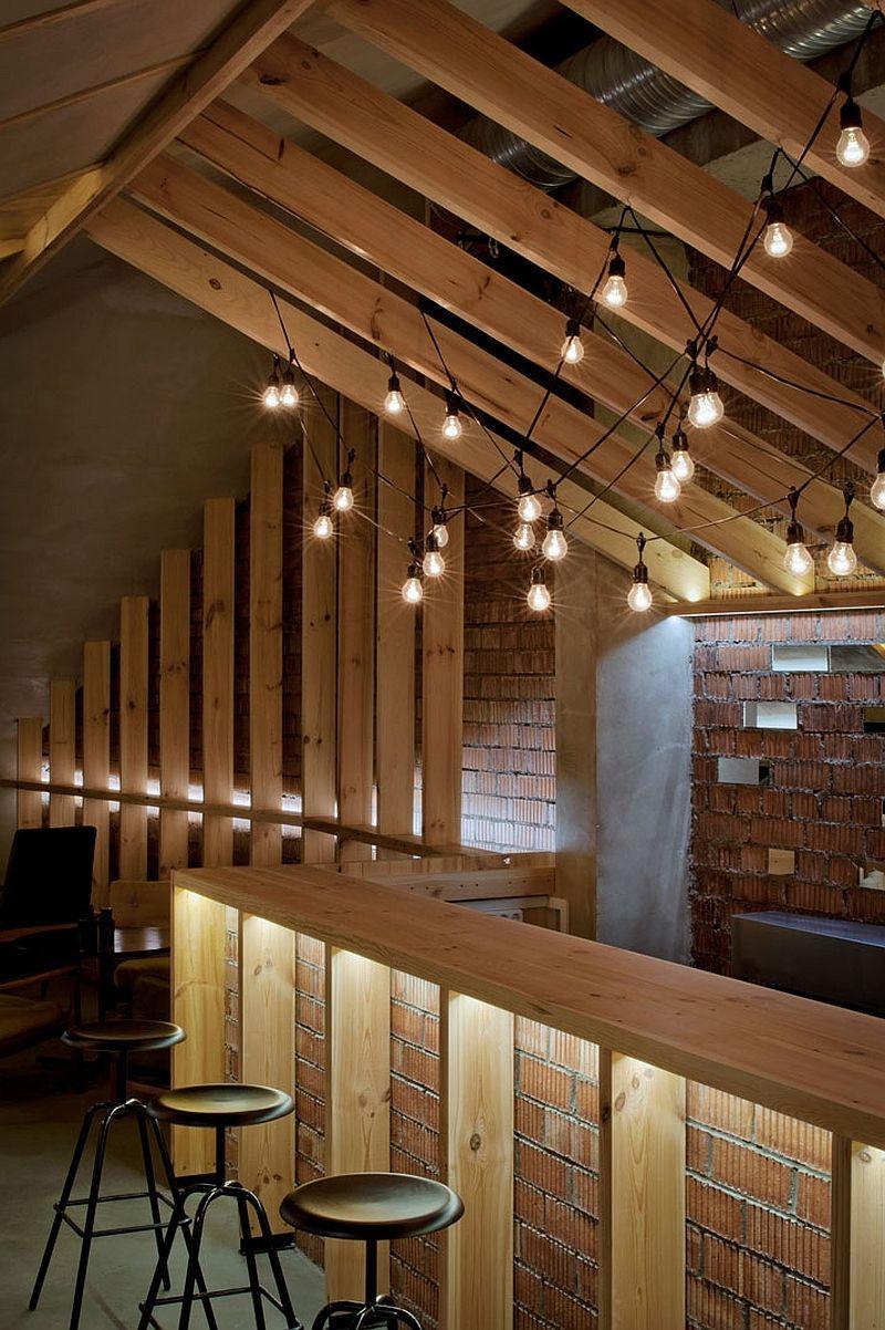 Ravishing attic bar blends rustic textures with contemporary design ravishing attic bar blends rustic textures with contemporary design aloadofball Choice Image