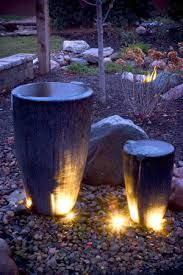 Image result for water features with lights