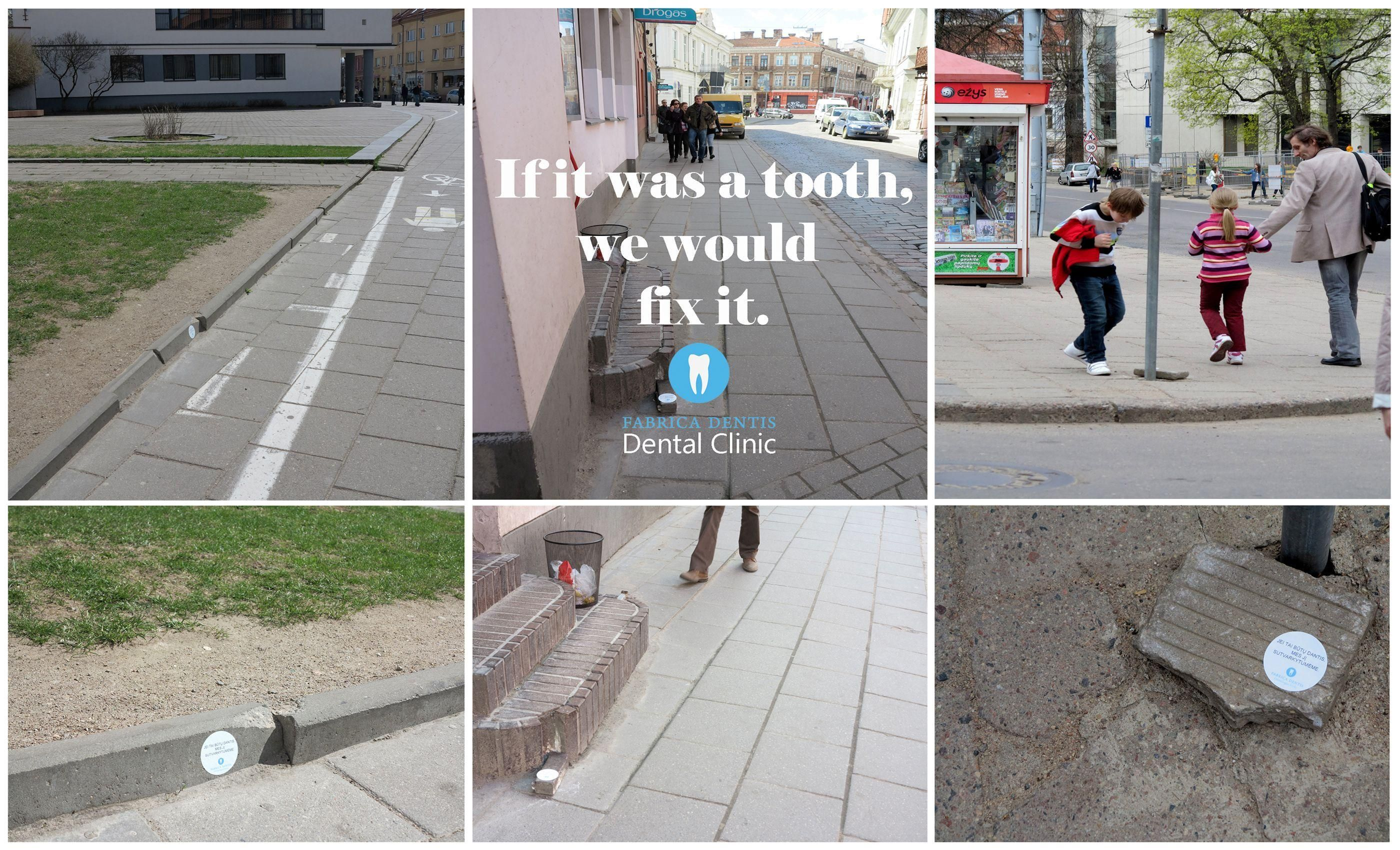 Clever Guerrilla Marketing from Dental Clinic