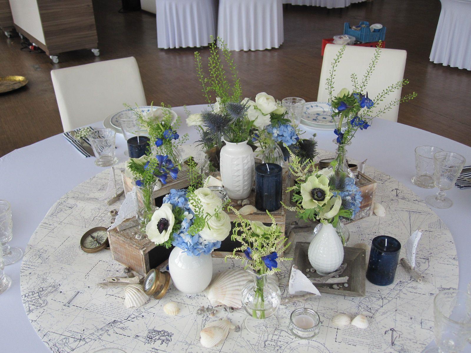 FLORICA Hochzeit Tischdekoration Thema Maritim im