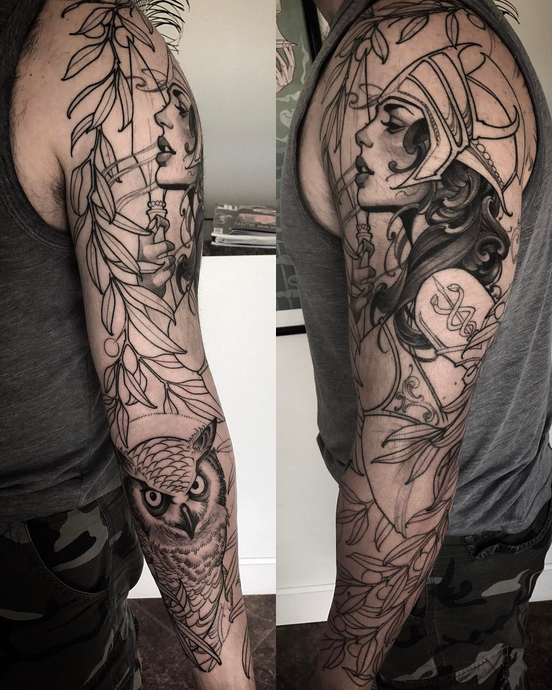 Goddess Tattoo For Woman: Progress On Derek's Athena Sleeve. Thanks Dude #athena