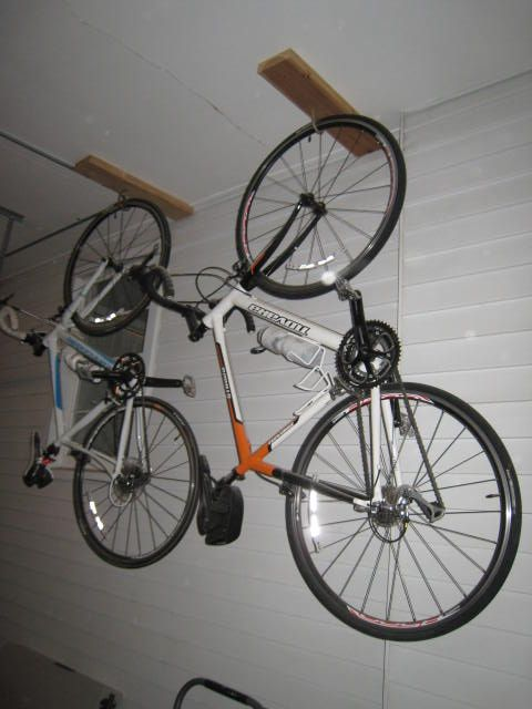 bike ceiling general com storage hanging from bikes discussion hang mtbr the ceilings