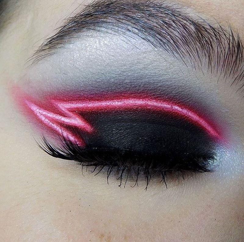 Trend Neon Eyeliner And Lip Eye Makeup Makeup Designs Makeup