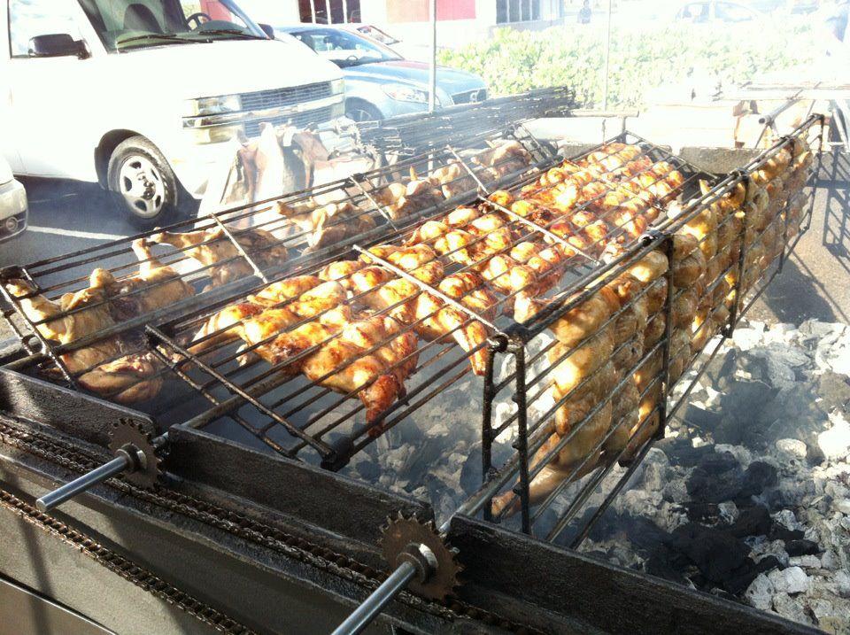 shoarma op de barbecue weber styl