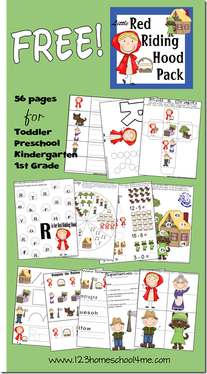 Little Red Riding Hood Worksheets | Education---Children's ...