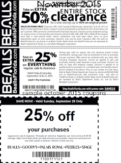 graphic relating to Palais Royal Printable Coupon known as Cost-free Printable Discount codes: Bealls Discount coupons scorching discount coupons