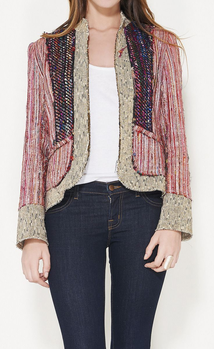 Matthew Williamson Gold, Pink, Red, And Multicolored Jacket