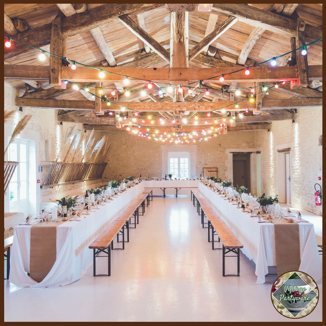 Wedding hall decoration images  Vintage and Rustic Reception Decorations from Vintage Partyware