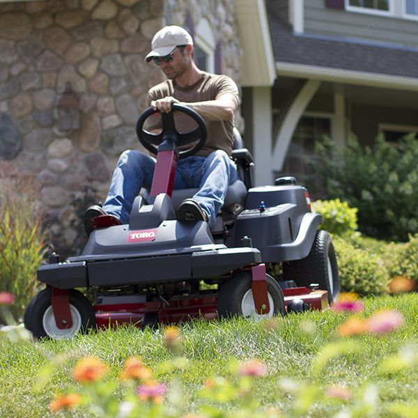 Try A Steering Wheel Zero Turn Mower They Re Easy To Drive Really Comfortable And Feels Like You Driving Traditional Garden Tractor But Better