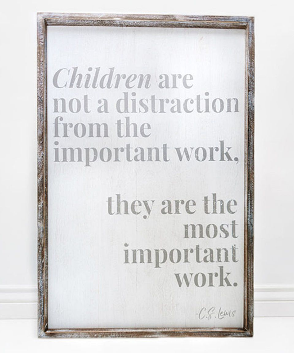 Take a look at this White & Gray 'Important Work' Framed