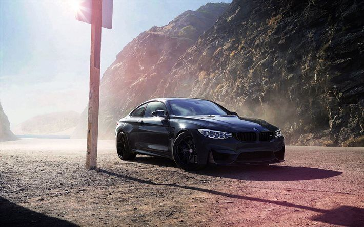 Download Wallpapers Bmw M4 F82 Black Bmw Tuning M4 Sports Coupe Bmw Besthqwallpapers Com Bmw M4 Bmw Wallpapers Bmw