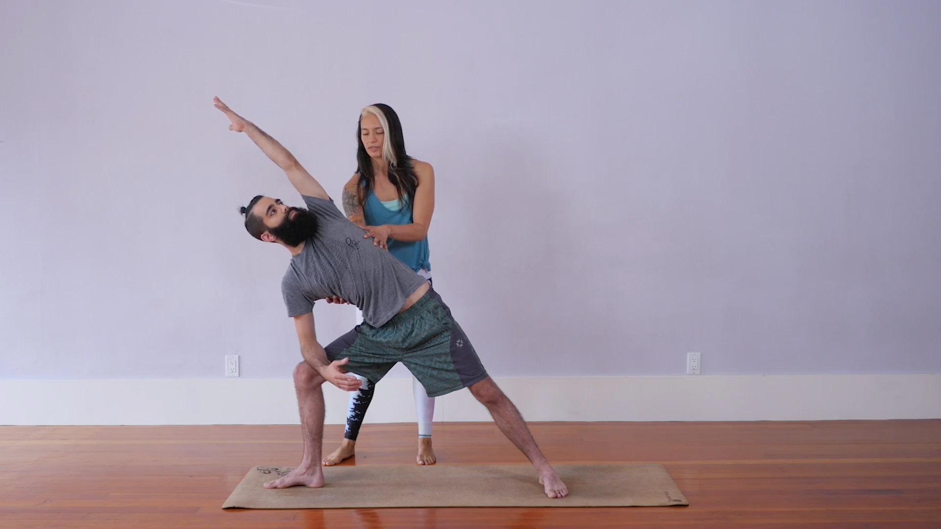 Join Christie for a standing sequence adapted from the Ashtanga yoga