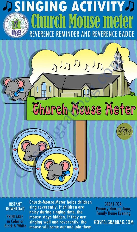 $3. 00 church mouse maze singing meter: primary music singing time.