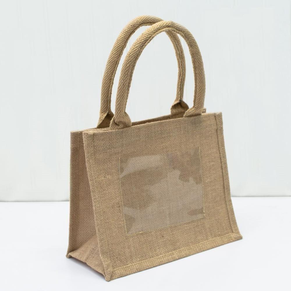 Rustic Wedding Favor Burlap Bags Promotional Jute Totes Tj907 In 2020 Burlap Tote Bags Burlap Favor Bags Burlap Bags