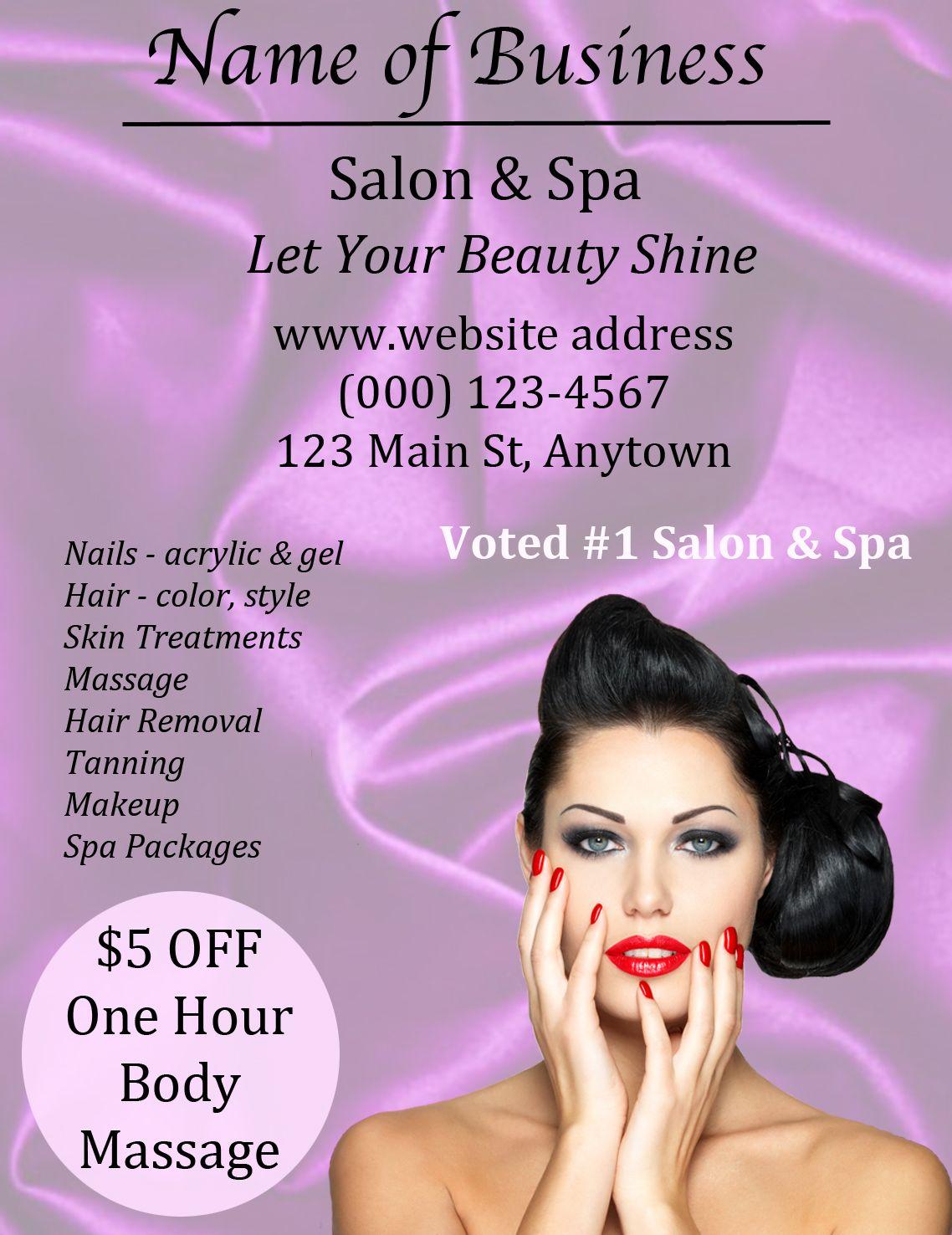 Hair Salon Ad 2 Tanned makeup, Skin treatments, Ads