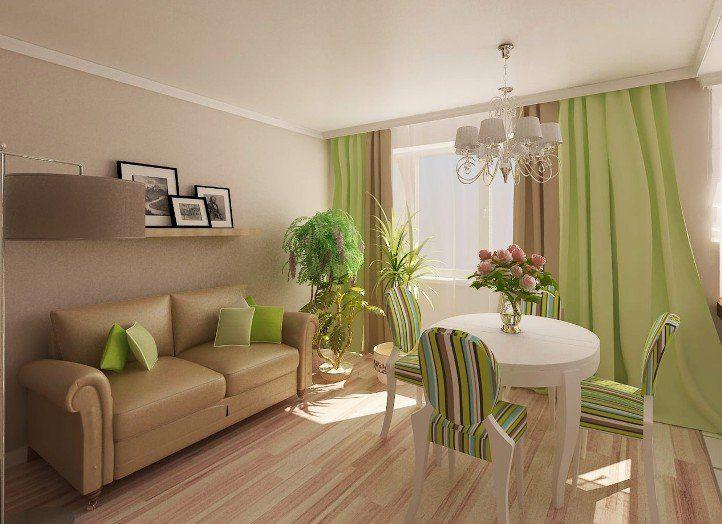 Зеленый цвет в интерьере комнат. Сочетание с другими ...
