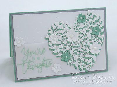 Bloomin' Heart soft sympathy card