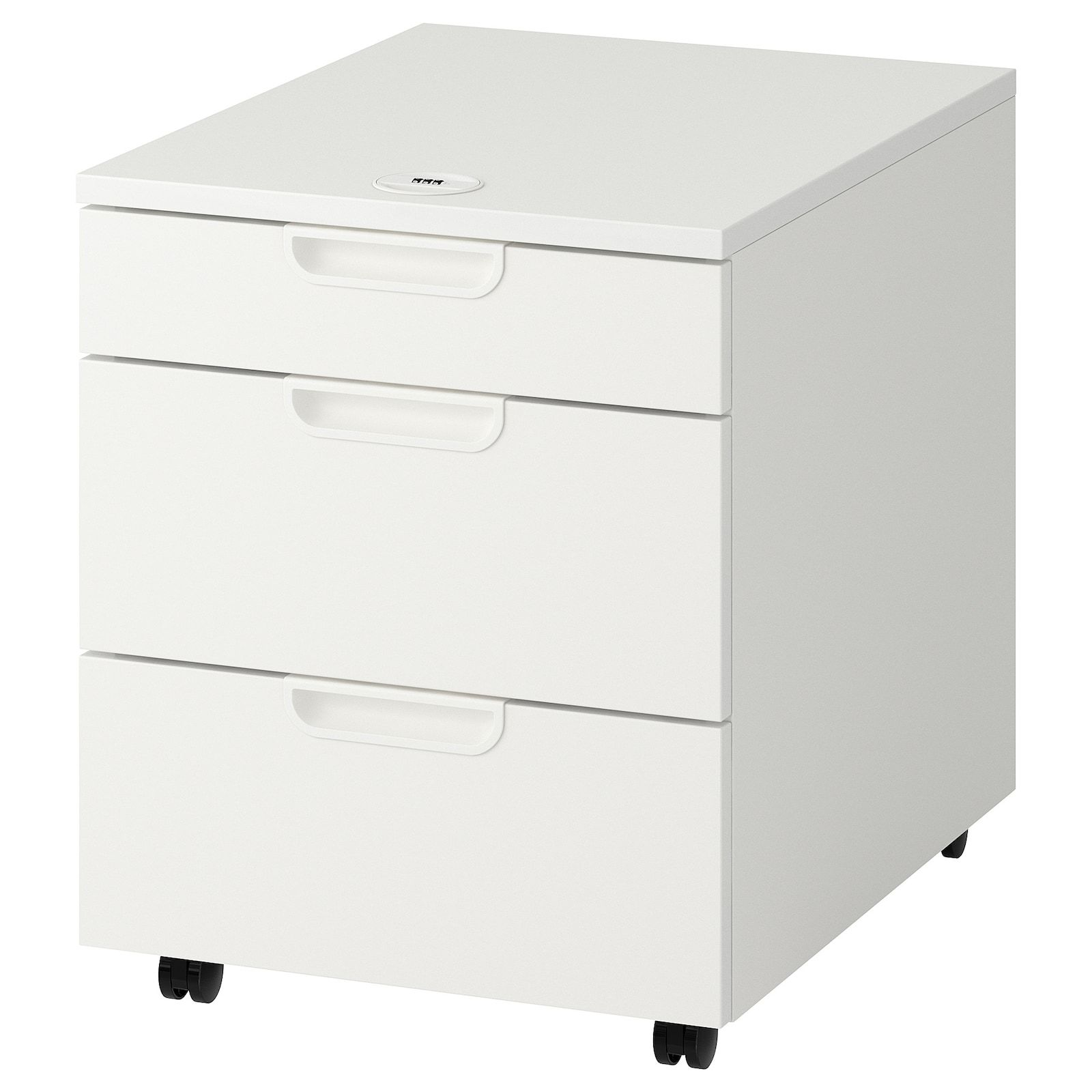 Galant White Drawer Unit On Castors 45x55 Cm Ikea In 2020 Drawer Unit Ikea Drawers