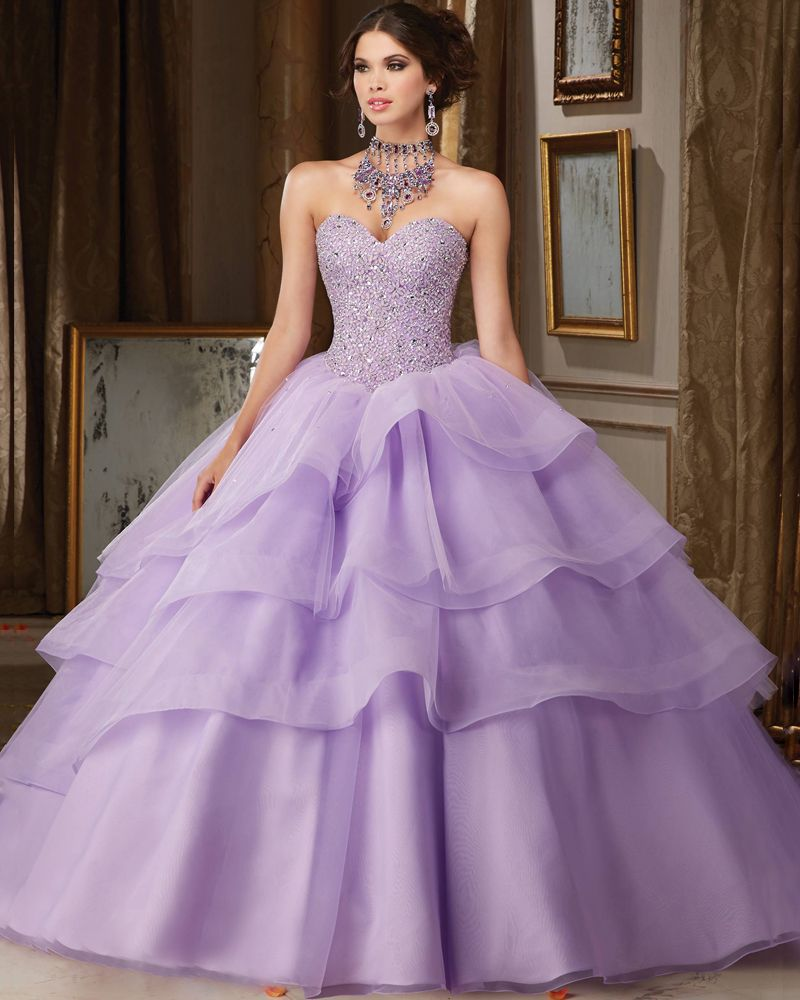 2016 Arrival Ball Gown Organza With Beads Quinceanera Dresses 15 ...