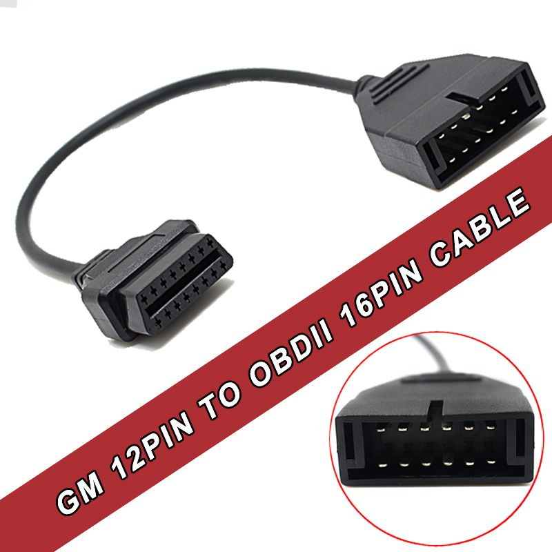 GM 12 pin to 16 pin OBD2 Code Reader Scanner Diagnostic Cable Adapter For Daewoo