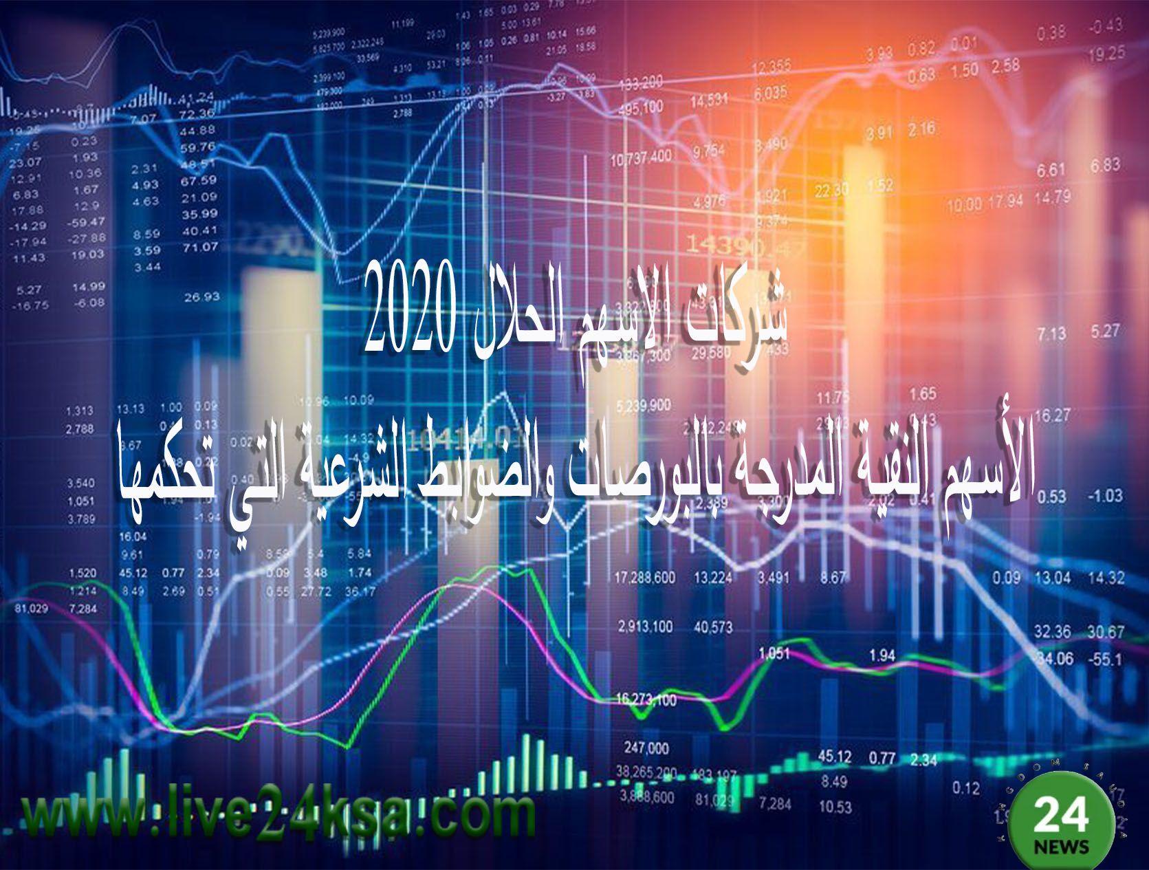 شركات الاسهم الحلال 2020 الأسهم النقية المدرجة بالبورصات والضوابط الشرعية التي تحكمها In 2020 Neon Signs