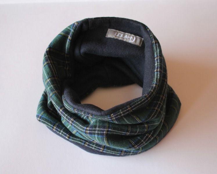 Cuello tubular reversible niñ@ - Verde de LoLahn Handmade por DaWanda.com