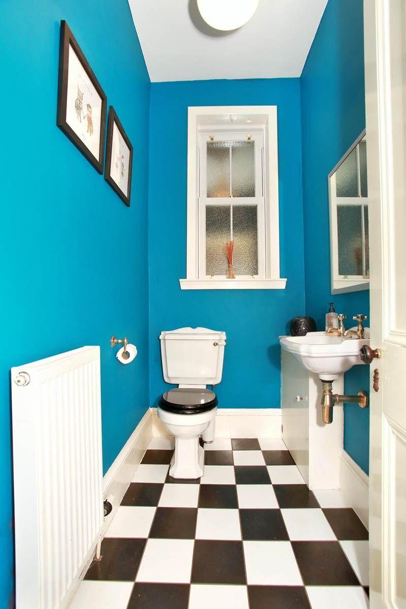 bright blue bathroom toilet. aberdeen scotland house for ...