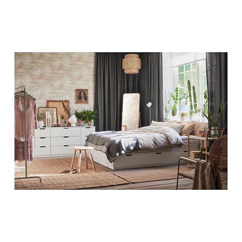 nordli cadre lit avec rangement blanc lits pinterest lits avec rangement ikea et tiroir. Black Bedroom Furniture Sets. Home Design Ideas