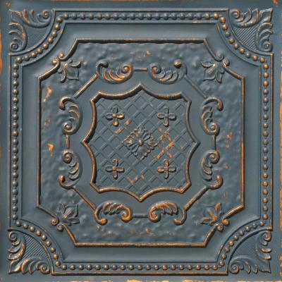 From Plain To Beautiful In Hours Elizabethan Shield 2 Ft X 2 Ft Glue Up Pvc Ceiling Tile In Antique White Dct04aw In 2020 Pvc Ceiling Tiles Pvc Ceiling Ceiling Tile