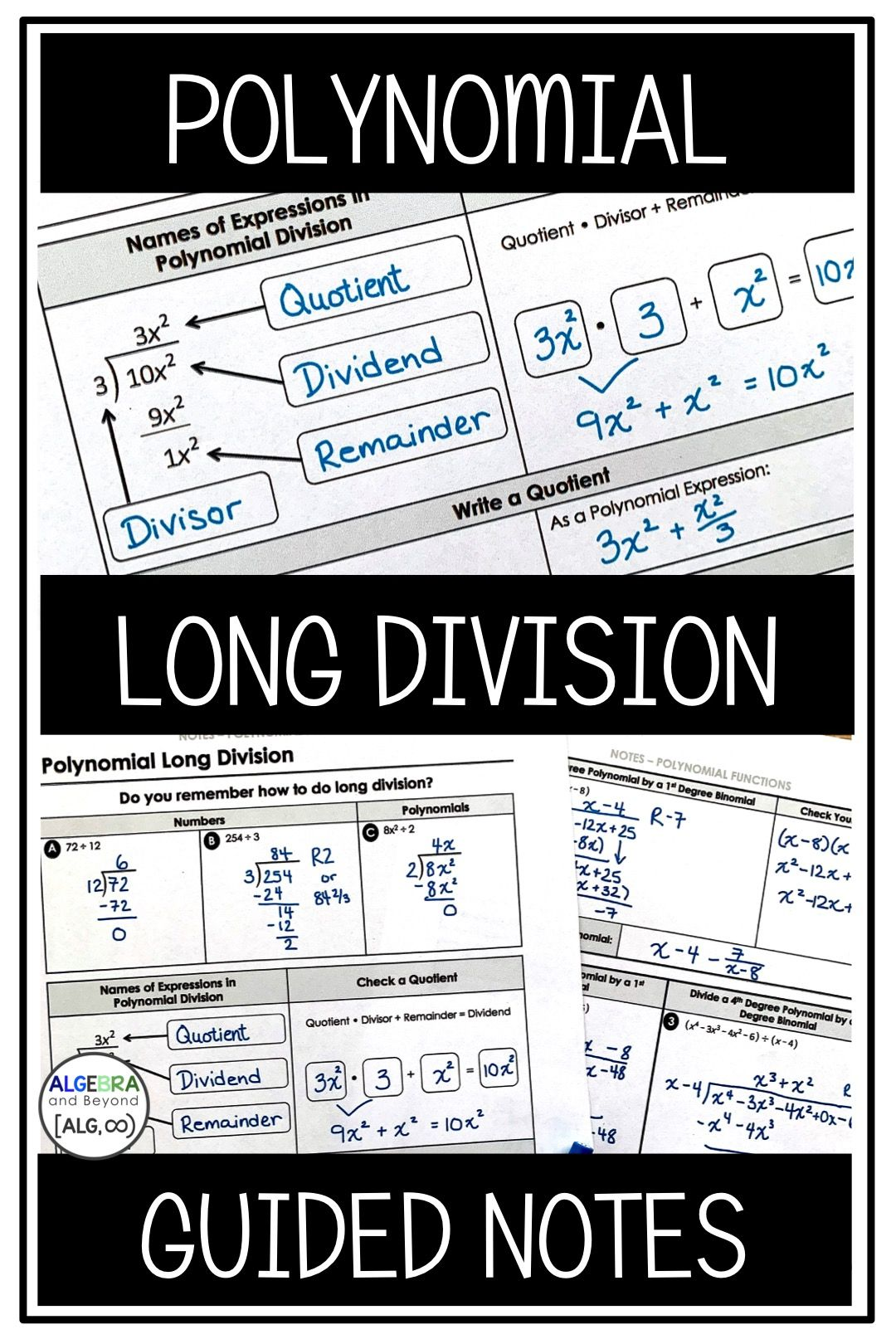 Students Learn Step By Step How To Divide Polynomials