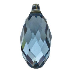 6010 11mm Denim Blue Swarovski Elements Crystal Pendant | Fusion Beads