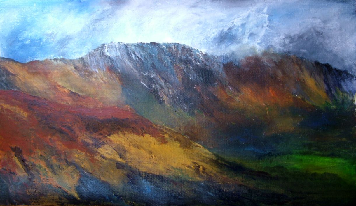 Fells Above Buttermere Landscape Paintings Lake District Lake District England
