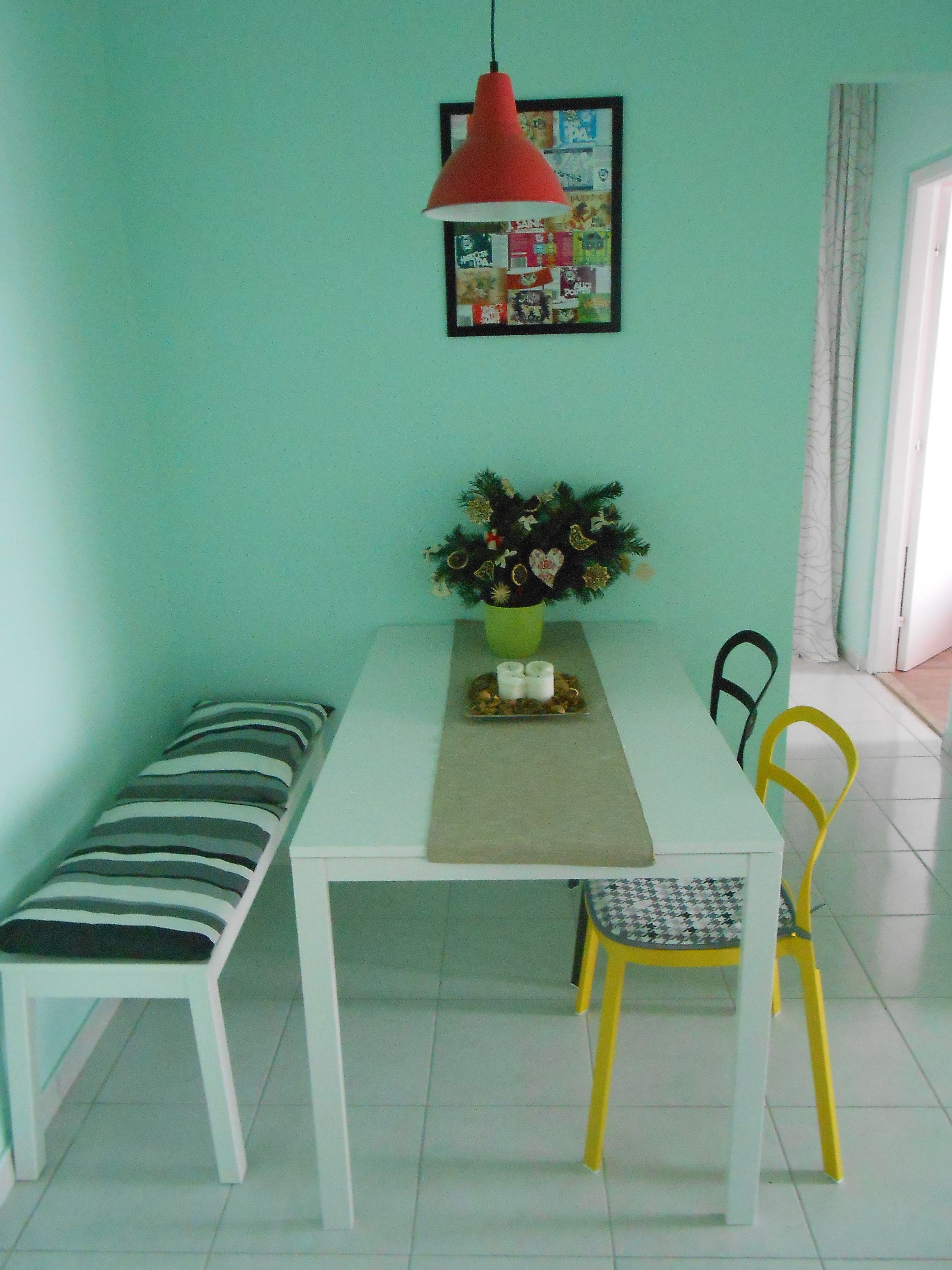 ikea Reidar chairs, Melltorp table, Sigurd bank   dining room ...
