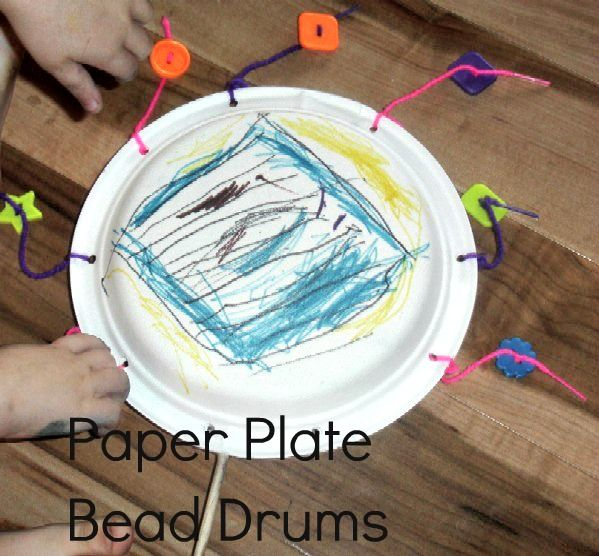 Noisy Week: Paper Plate Bead Drums | Children's Art ...