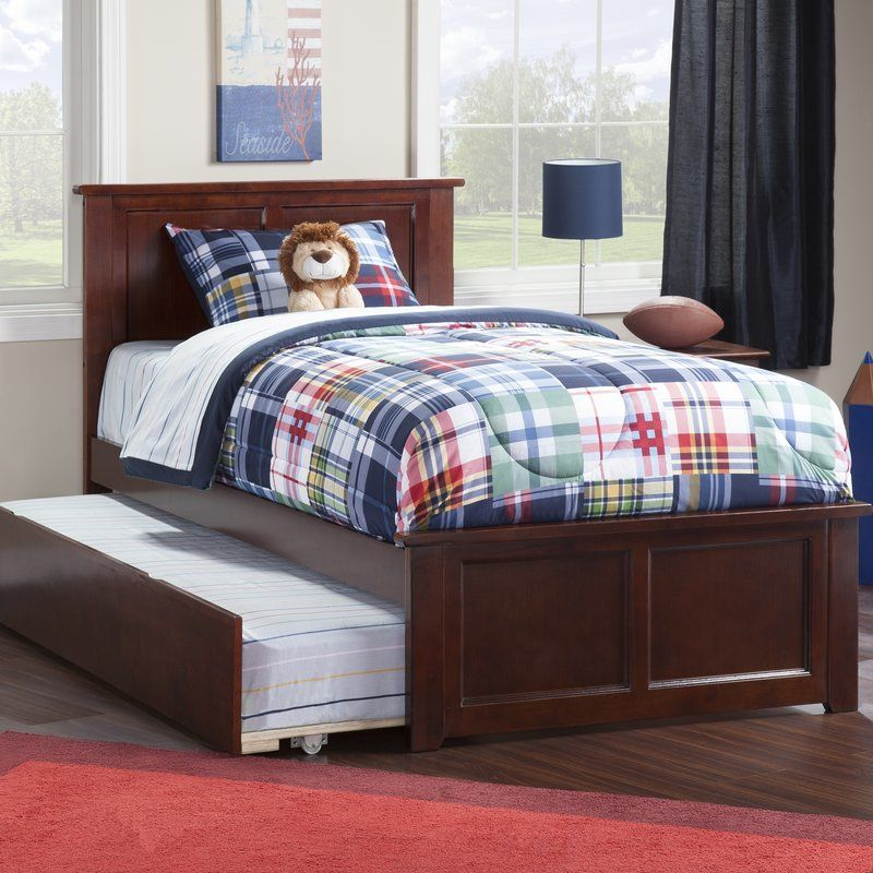 Espinoza Alanna Platform Bed With Trundle Traditional Bed Bed