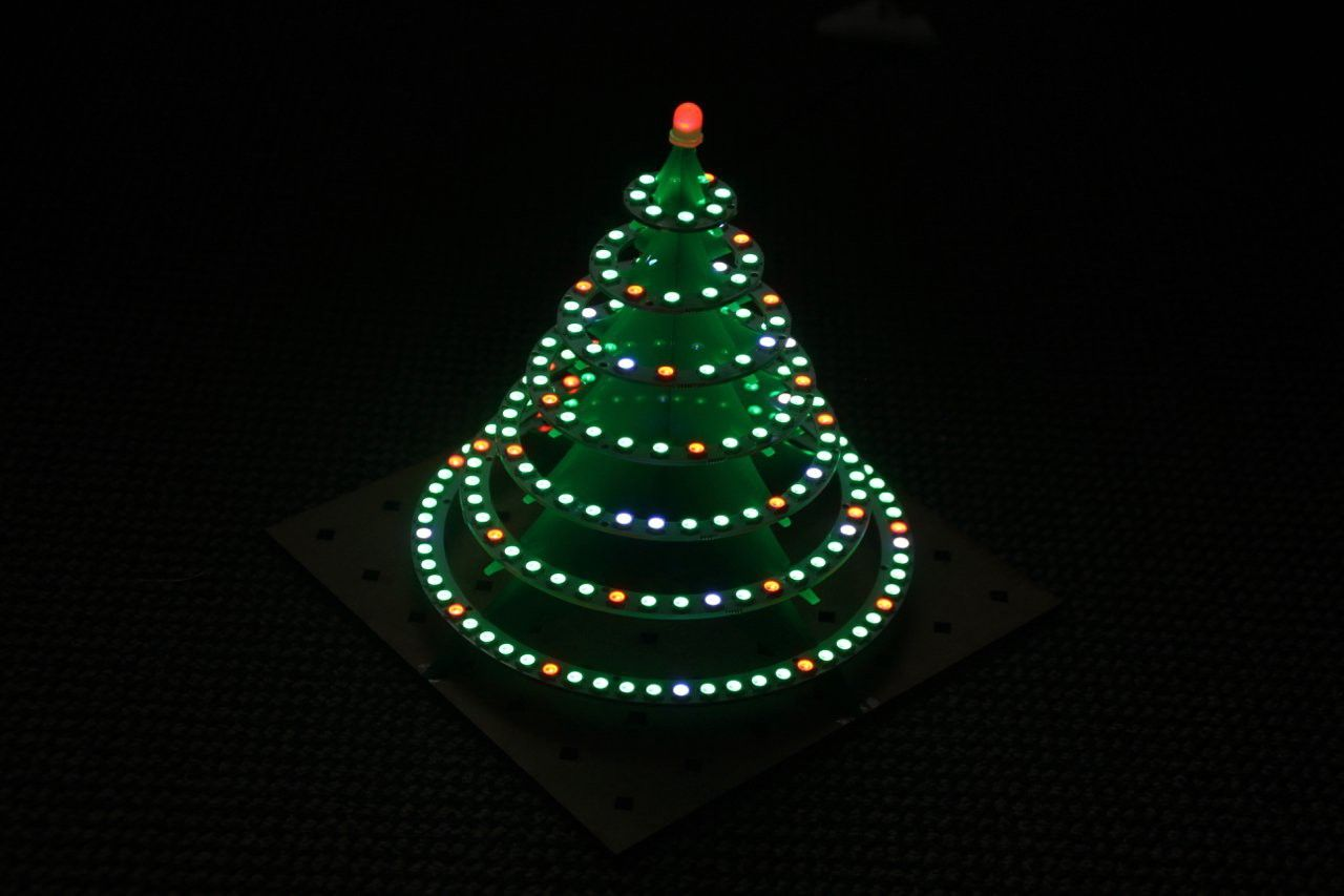 Inspired By A Hackaday Blog Post I Have Combined 7 Led Rings And A Teensy 3 5 Board To A Nice Led Christmas Tree In 2020 Christmas Tree Led Christmas Tree Tree