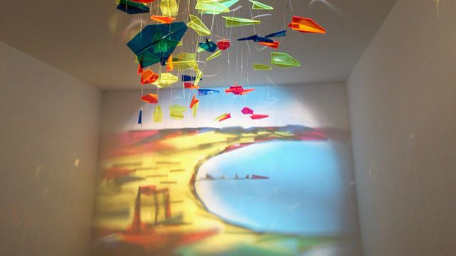 painting using plexiglass airplanes