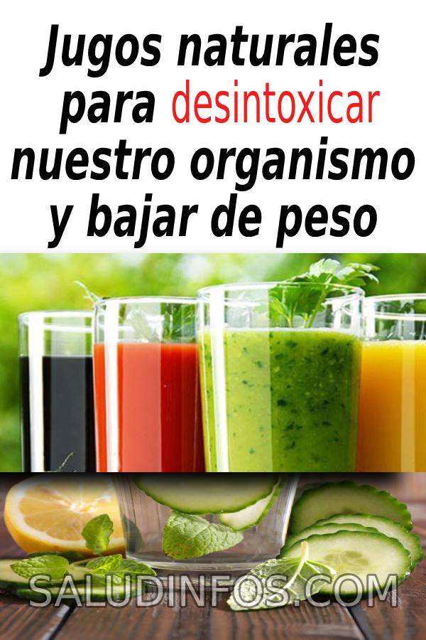 Jugos Naturales Para Desintoxicar Nuestro Organismo Y Bajar De Peso Jugos Naturales Desintoxicar Cucumber Condiments Pickles