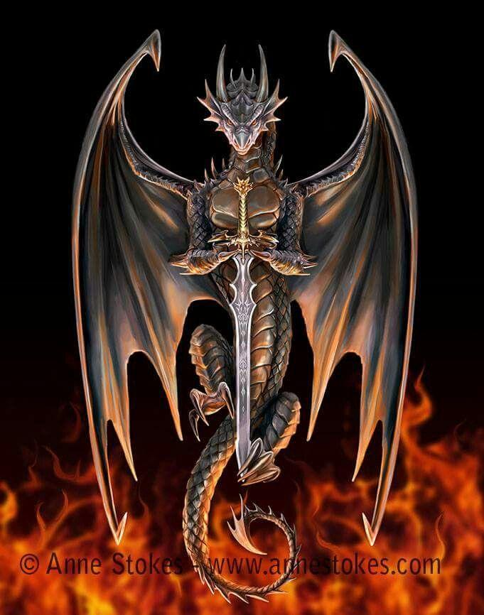 Dragon Warrior Art work by Anne Stokes