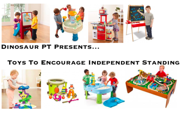 Toys To Encourage Independent Standing In Children Pediatric Physical Therapy Teaching Kids Pediatric Therapy