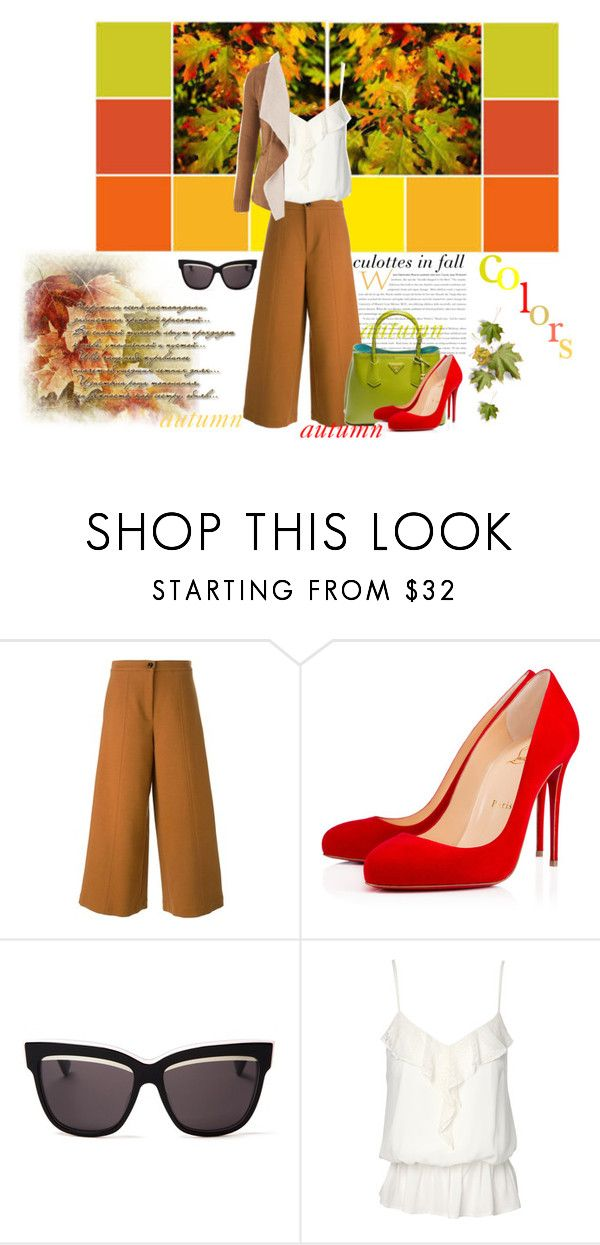 """""""welcome autumn"""" by arohii ❤ liked on Polyvore featuring VIVETTA, Prada, Christian Louboutin, Christian Dior, Jane Norman and maurices"""
