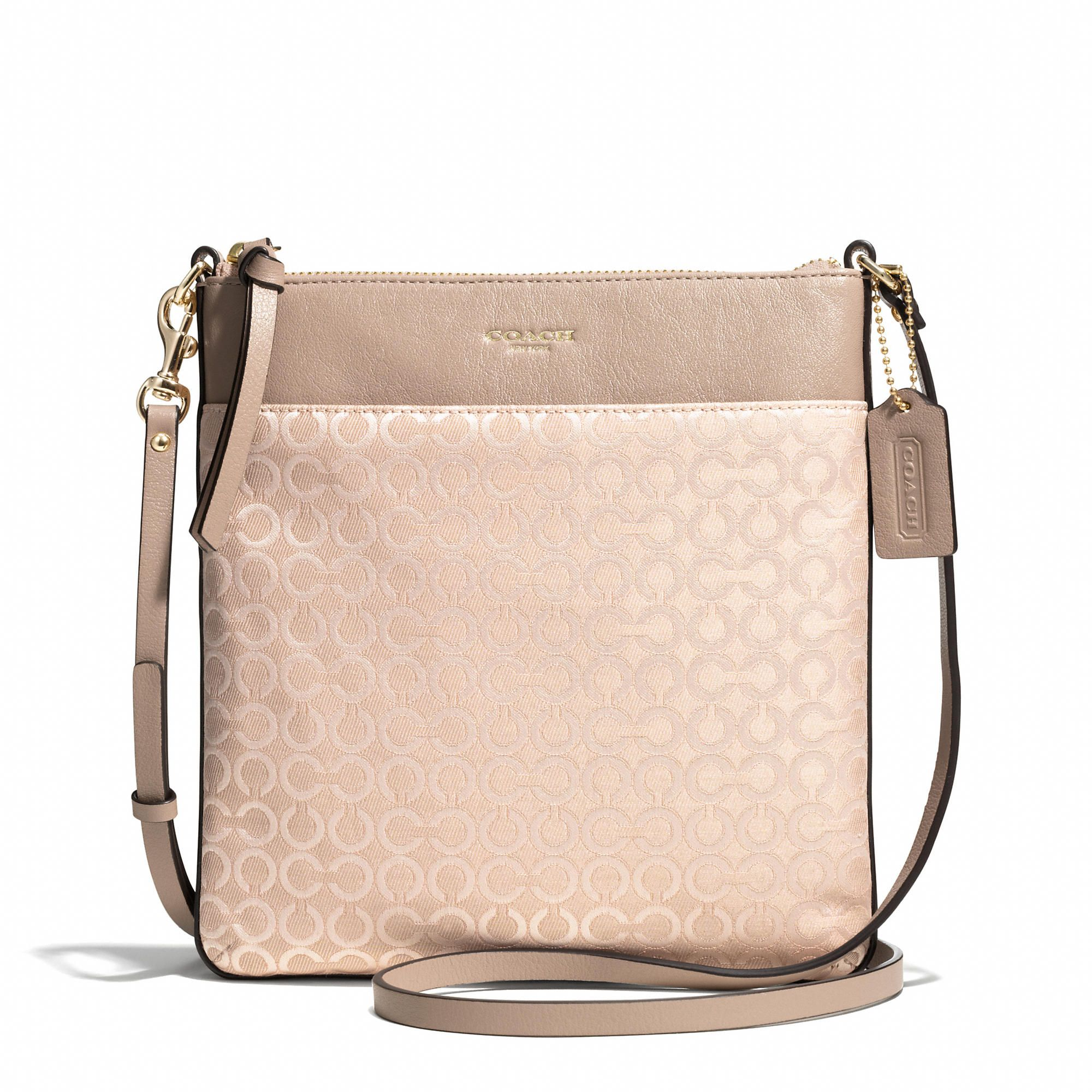 acb23a2b4422 Coach Madison North South Swingpack In Op Art Pearlescent Fabric - ShopStyle  Shoulder