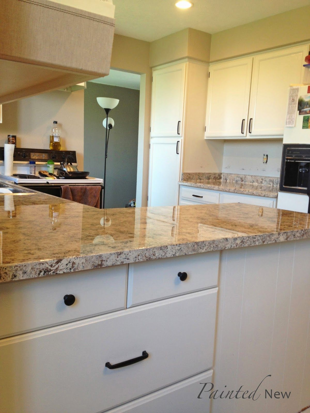 Painted New Our Diy Kitchen Makeover Kitchen Diy Makeover Cheap Kitchen Makeover Kitchen Makeover