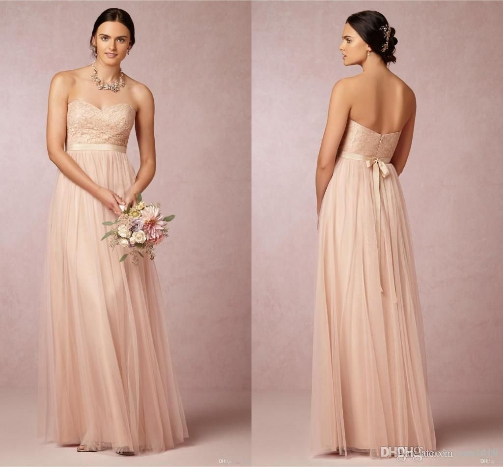 Bridesmaid dresses 2015 hot cheap sweetheart tulle blush pink lace bridesmaid dresses 2015 hot cheap sweetheart tulle blush pink lace empire maternity sashes long for wedding party dress prom gowns under 100 ombrellifo Gallery