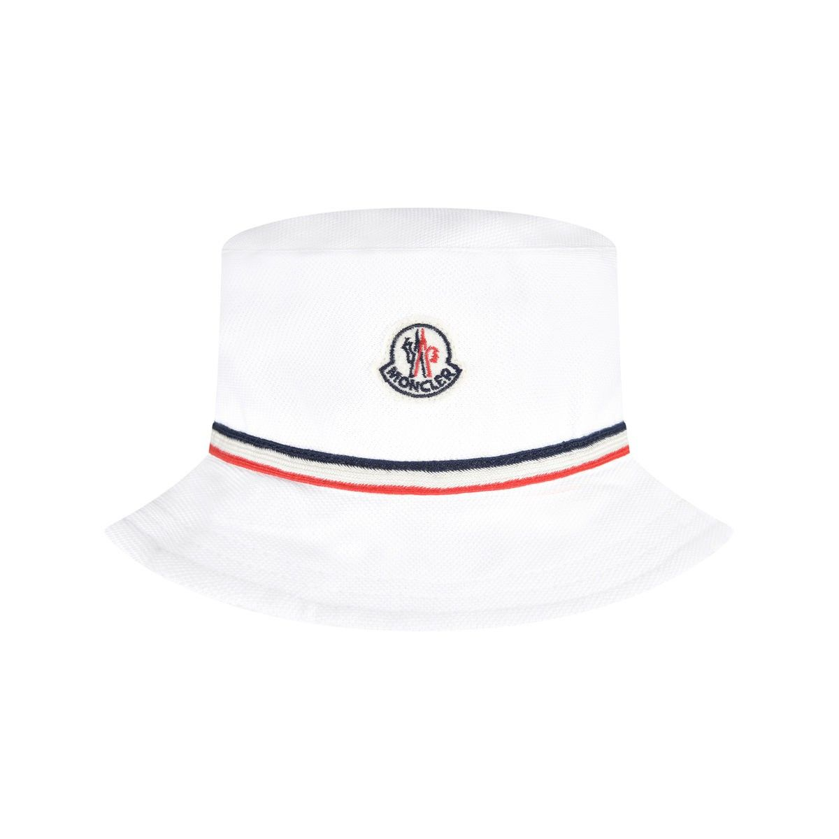 e8e72627d Moncler Baby Boys White Cotton Pique Hat | For babies | Moncler ...